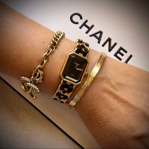 Authentic CHANEL Premiere Gold Plated Chain Watch
